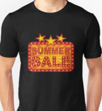 Retro Marquee Summer Sale Sign Illustration T-Shirt