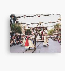A Christmas Fantasy Parade  Canvas Print