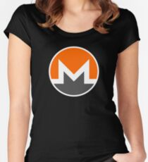 Monero Logo - XMR Crypto Currency Women's Fitted Scoop T-Shirt