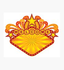 Retro Marquee Welcome Sign Illustration Photographic Print