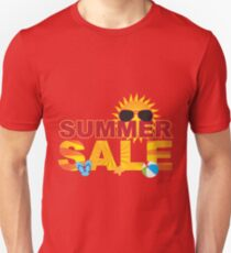 Summer Sale Beach Theme Banner Illustration Unisex T-Shirt