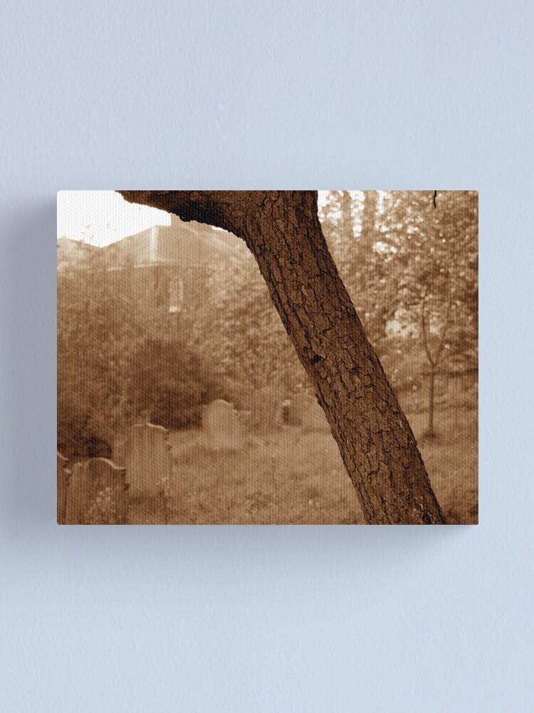 Alternate view of Graveyard at Dawn Canvas Print
