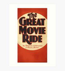 The Great Movie Ride Art Print