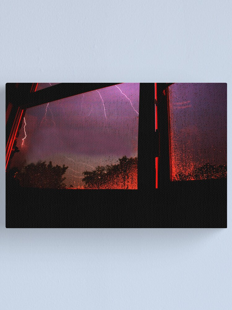 Alternate view of Stormy Night (3am 28/05/08) Canvas Print