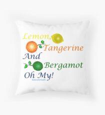 Lemon, Tangerine and Bergamot - Essential Oil Throw Pillow
