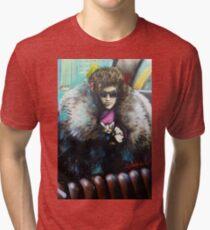 Street Art Scaredy Cat Tri-blend T-Shirt