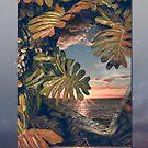 Sunset Hawaiian Beach by PatinoDesign