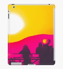 summer sunset light with mountain background iPad Case/Skin