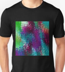 flower pattern abstract background in purple pink blue green Unisex T-Shirt