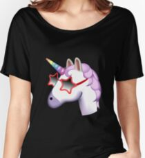Unicorn Startstruck Emoji  Women's Relaxed Fit T-Shirt
