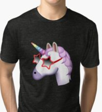 Unicorn Startstruck Emoji  Tri-blend T-Shirt