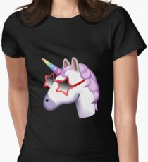 Unicorn Startstruck Emoji  Women's Fitted T-Shirt