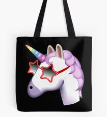 Unicorn Startstruck Emoji  Tote Bag