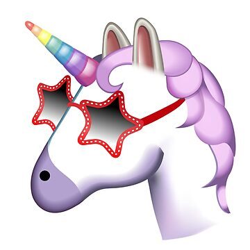 Unicorn Startstruck Emoji  by stylecomfy
