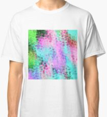 flower pattern abstract background in pink purple blue green Classic T-Shirt