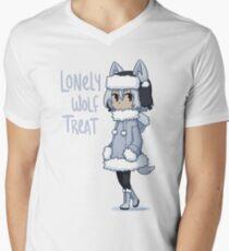 Lonely Wolf Treat Men's V-Neck T-Shirt