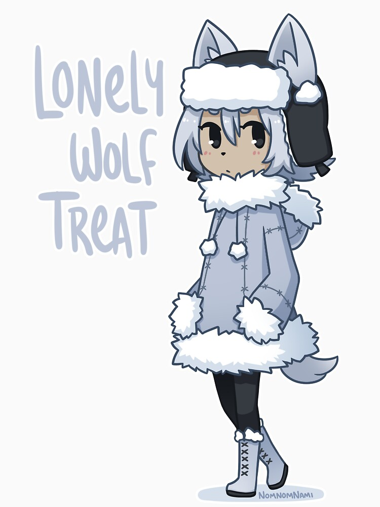 Lonely Wolf Treat by nomnomnamiart