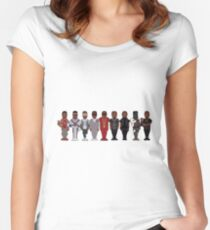 YEVOLUTION | RAPPERS CHANGED  Women's Fitted Scoop T-Shirt
