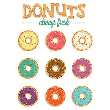 Fresh donuts by lightwearer