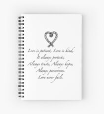 Love is patient, love is kind Spiral Notebook