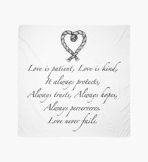 Love is patient, love is kind Scarf