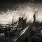 Cityscape at sunset by Mel Brackstone