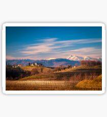 Sunset in the vineyards of Rosazzo Sticker