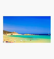 The beach of Chia su Giudeu, Sardinia Photographic Print