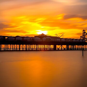 Sunset over Herne Bay Pier by Femaleform