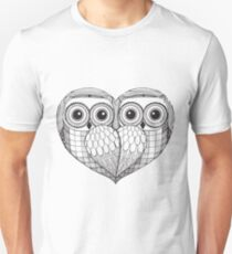 Owl sketch - Love Birds Unisex T-Shirt