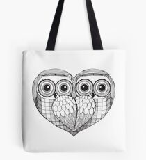Owl sketch - Love Birds Tote Bag