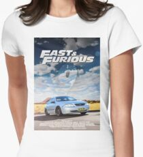 FAST AND FURIOUS 9 - PARODY POSTER Womens Fitted T-Shirt