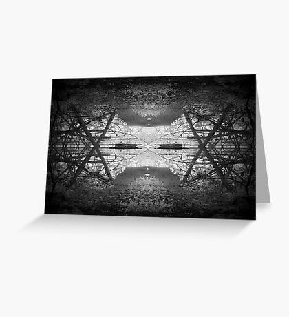 Mangrove abstract Greeting Card