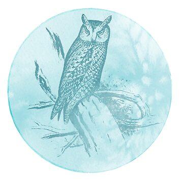 Winter owl by shadowisper