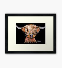HIGHLAND COW ' PEPSI ' By Shirley MacArthur Framed Print