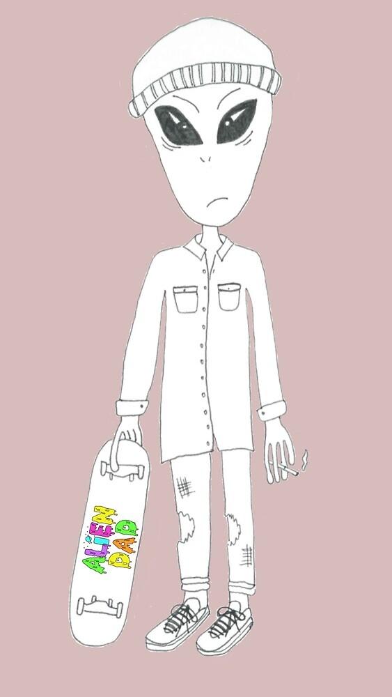 Alien Dad - Skater by Bradman77