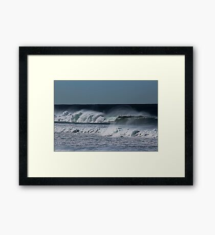 Windy Waves Framed Print
