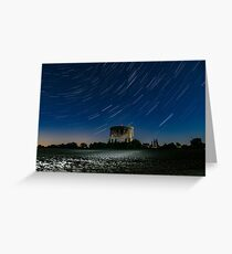 Jodrell Bank Star Trails Greeting Card