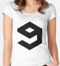9gag logo Women's Fitted Scoop T-Shirt