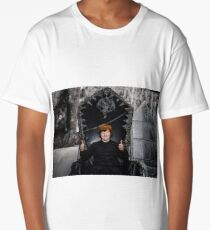 Red-haired boy sitting on the magic throne in studio Long T-Shirt