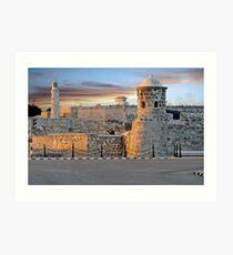 Morro Castle At Sunset Art Print