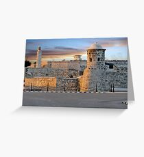 Morro Castle At Sunset Greeting Card