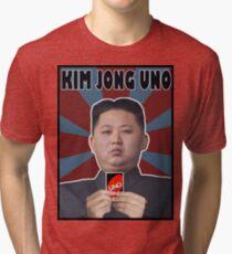 Kim Jong UNO Tri-blend T-Shirt