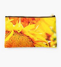 Sunflower Fire Abstract Studio Pouch