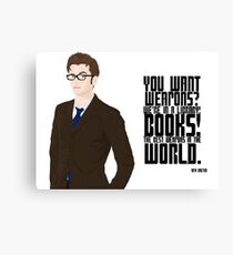 Doctor Books Canvas Print