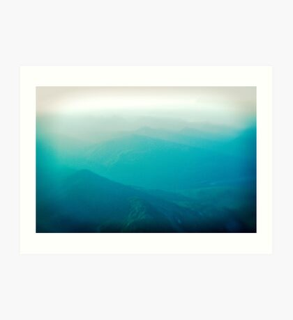 Vancouver Island from the air Art Print