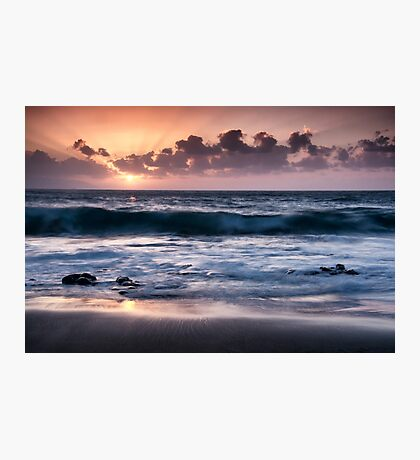 Sunset over El Arena Photographic Print