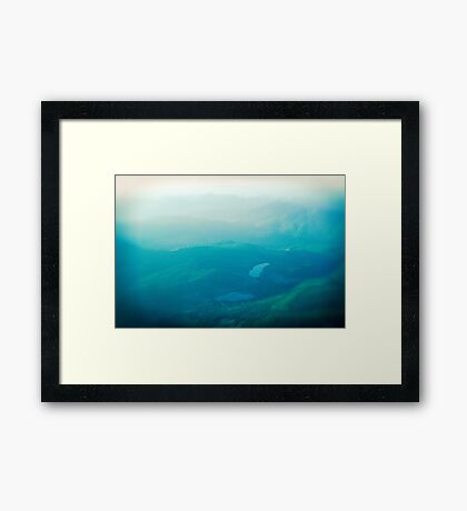 Vancouver Island aerial Framed Print