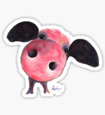 NOSEY PIG ' CLARENCE ' By Shirley MacArthur Sticker