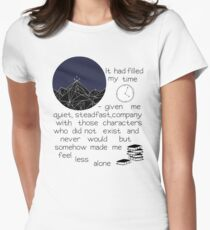 somehow made me feel less alone ACOMAF quote Womens Fitted T-Shirt